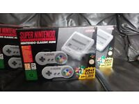 SNES Unopen Brand New Rare Consol With 21 Installed Games