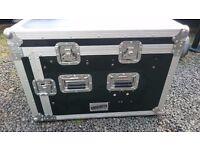 """KAMKASE 19"""" rack mounted flight case DJ Amp rack"""