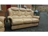 Italian style leather suite