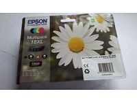 EPSON INK CARTRIDGES / ORIGINALS/ NEW..Multipack 4-colours 18XL Claria Home Ink
