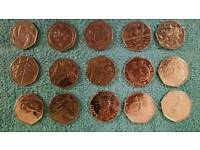 50p assorted coins