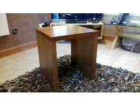 Solid oak lamp table X2