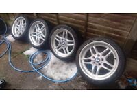 """18"""" Genuine BMW Style 37 M-Parallel Alloy Wheels, Staggered, E39 fitment"""