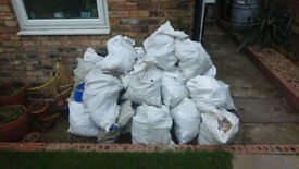 40 bags of rubble / hardcore - please collect