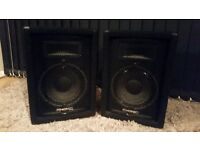 "Phonic se710 10"" 2 way stage speakers"
