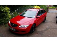 Mazda 6 TS2 Estate 2.0L Petrol in red. 1 owner from new, low mileage
