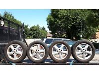 VAUXHALL ZAFIRA 04 PLATE ALLOY WHEELS AND TIRES 205/ 55 R16 91V