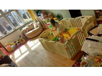 Venture All Stars Baby PLAYPLEN with foam floor mats and play balls