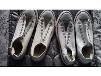 2 PAIRS OF MENS CONVERSE - SIZE 9
