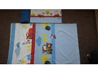 Cot bed pillow and quilt cover