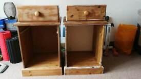 Unfinished Bedside Cabinets x 2