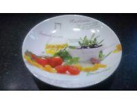 Large ceramic pasta bowl for sale.