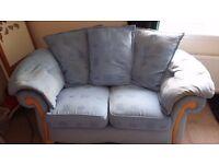 2 seater pale blue sofa