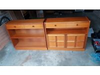 Book shelves, drawer unit and coffee table