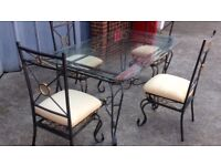 Glass Dining table and chairs EXCELLENT condition! I CAN DELIVER FREE IF LOCAL