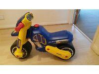 Foot-to-floor motorbike