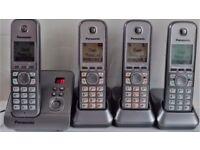Panasonic Digital Quad Answerphone System Good Used Condition