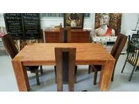Large solid wood dining table and 4 heavy chairs can deliver 07808222995