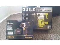 Guild 1000w rotary hammer / brand new unopened. Gmc 12v impact driver also brand new unopened
