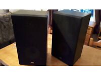 Pair of JVC good quality old style speakers