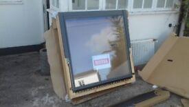 Brand new Velux window 118 cm x114 cm, brand new unused with relevant slate flashings.