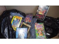 2 free bag of video tapes some in cases various mixed