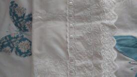 Single White Duvet Sheet and Pillow Case