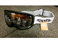 SINNER Skiing Glasses/Goggles £15 (RRP £60)