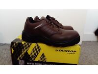 Men's safety shoes DUNLOP steel toe size UK 9.5 (44) brown work boots