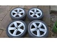 17 inch Audi vw s line alloy wheels pcd 5x112