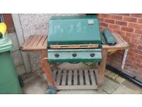 Large gas barbeque for sale. Has been stored outside but been covered by manufacturers cover.