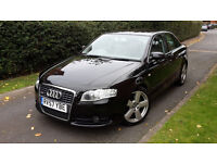2007 AUDI A4 2.0 TDI S-LINE SALOON 170BHP,ONE OWNER,LEATHER,LOW MILEAGE,GOOD COND.