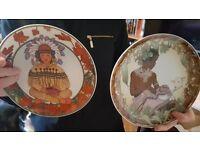 VINTAGE Heinrich Germany Villeroy & Boch Plates. Unicef Children of the World
