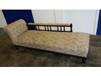 ANTIQUE METAMORPHIC RAIL BACK CHAISE LOUNGE / BED / DAY BED DELIVERY AVAILABLE