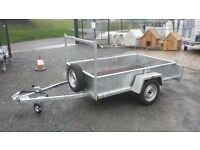GALVANISED TRAILERS WITH FRONT LADDR RACK LED'S SPARE WHEEL LOCK JOCKEY PROP STAND