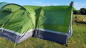 HI GEAR KALAHARI ELITE 10 BERTH TENT AND PORCH USED FOR TWO WEEKS ONLY