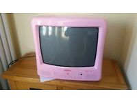 Pink TV with DvD