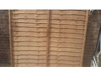 Fence Panel Overlap Panel 6x6 Ft - Treated