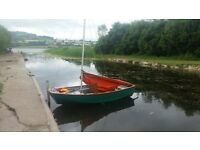 10ft classic mirror dinghy sailing boat with trailer
