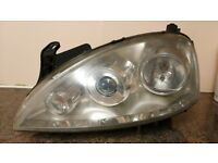 Corsa Headlights for 03 plate