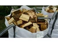1 ton bag of split hardwood log