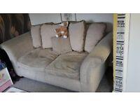 FREE cream sofa bed/settee