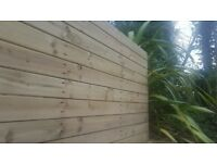 Treated Contemporary Style Fencing