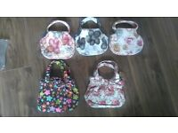 Job lot womans clutch bags, small hand bags. Floral bags, brand new, clearance bags