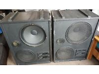 """Large PA speakers with Celestion Drivers (15"""" and 12"""") going cheap"""