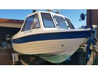 Explorer elite fishing boat, 50hp tohatsu outboard and trailer