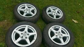 "vaxuhall astra vectra zafira 15"" 5x110 alloys never been on car !!!"