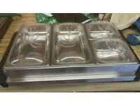 Buffet warming server, 4 compartments