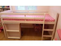 Cabin bed with pull out desk