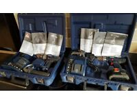 AEG 14.4v Cordless Drills BSB 14 STX and BS 14 X with Cases and Chargers